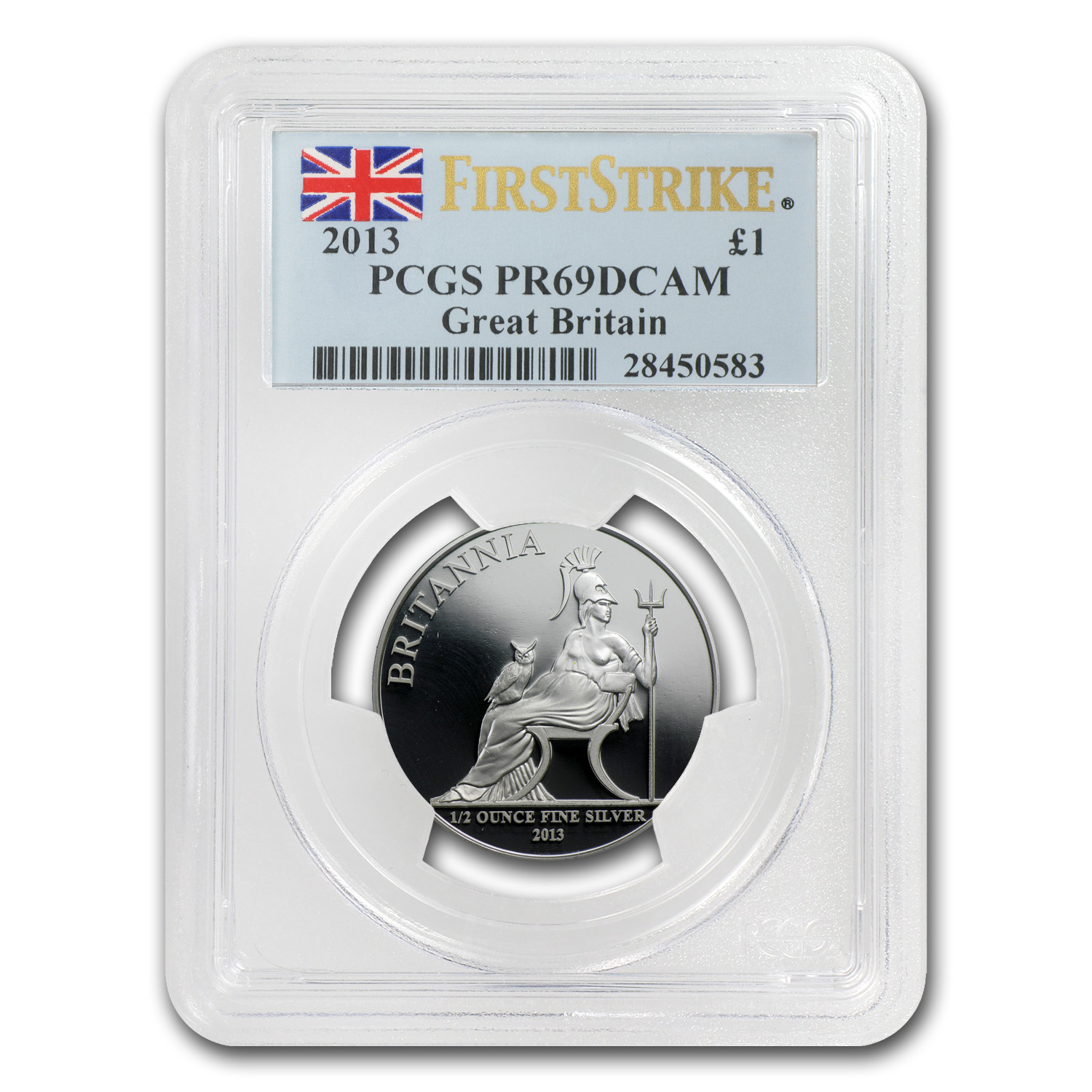 2013 GB 5-Coin Silver Britannia Proof Set PR-69 PCGS (FS)